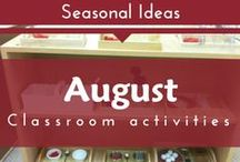Seasonal- August (Beginning of School - Preschool and Kindergarten)