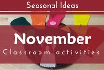 Seasonal- November (Fall, Harvest, Leaves, Thanksgiving Preschool and Kindergarten Themes)