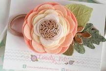 Цветы из ткани и фетра.