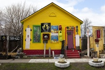 The Heidelberg Project Brightens Detroit / The art project features brightly colored paint and found objects adorning homes in a neighborhood of Detroit that might otherwise seem bleak. (Photos by David Kidd) http://ow.ly/lM6kC