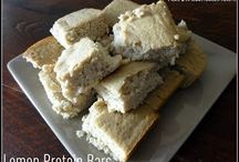 Food- Protein power / High protein low carb snack ideas such as bars and cookies  / by Jane Wilkinson Tosetti