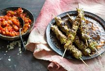 Food- spicy cuisine / Curries and other Indian delicacies, Turkish dishes etc