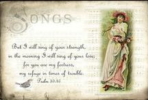 Scripture / Digital art with verses from the bible.  I designed many of these for my blog readers.