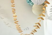 * my products * / Mi-avril is a brand of decorative paper garlands and stationary (handmade in France).