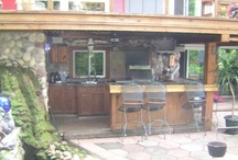 outdoor kitchen / by Cathy Mehlin