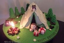 Cake Camping/Picnic / novelty cakes based cake in the form camping and picnic related