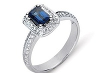 Engagement Rings - Precious Colored Stone / by WEDDINGRINGS.COM
