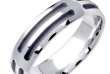 Fancy Brite Cut Wedding Rings / A collection of almost 150 rings showing the many variations in machine cutting techniques and how good looking the finished product is. All styles shown in white and are available in yellow or rose gold at the same cost. / by WEDDINGRINGS.COM