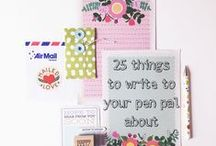 Letter writing & pen pals / Lovely links for good old fashioned letter writing / by One Crafty Mumma