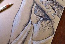 Desenho / Desenhos e outros trabalhos manuais incríveis para referências