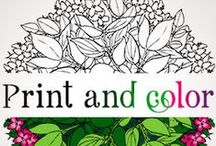 Adult Coloring Pages / Free Adult printable coloring pages for fun and stress relief!