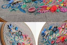 Embroidery Needlework Inspiration / Embroidery, appliqués, and other fabric art