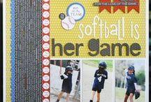 softball / scrapbook page ideas
