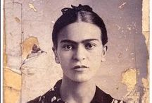 "Frida / ""I love you more than my own skin.""  Frida Kahlo / by Glen Velez"
