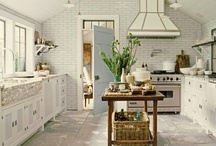 Kitchens / Anything white is my favorite.  Occassionally you will see other styles and colors added!
