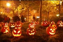Pumpkins, Ghosts and Candy Corn / Fall decorating ideas, vintage Halloween stuff and food, 'natch.