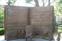 Book monument / If you want to attach the board to your profile email me at: knihovnachrastany@seznam.cz
