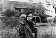 """Grey Gardens, the fall........... / Grey Gardens is a 1975 documentary film that depicts the everyday lives of two reclusive socialites, a mother and daughter both named Edith Beale, who lived at Grey Gardens, a decrepit mansion at 3 West End Road in the wealthy Georgica Pond neighborhood of East Hampton, New York.   In 2010 the film was selected by the Library of Congress for preservation in the United States National Film Registry as being """"culturally, historically, or aesthetically significant""""."""