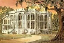 Nottoway Plantation / .The historic plantation home survived the American Civil War with only a single grapeshot to the far left column. Nottoway originally sat on 400 acres (1.6 km2) of highland, and 620 acres (2.5 km2) of swamp. Nottoway was completely surrounded by sugarcane fields, and oak trees.