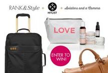 Contest Entries / Links to great contests for everything from a free trip to a new suitcase to a shopping spree!