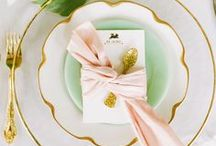 E V E N T S {table settings} / Set the tables as you please, with glitz and glam to fit your needs