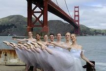 Happy 75th, Golden Gate Bridge / In honor of the Golden Gate Bridge's 75th Anniversary, enjoy this collection of our dancers in their finest 'International Orange' / by San Francisco Ballet