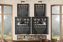 Eye Chart Art / Eye charts are not only used by our eye doctors - but for awesome and beautiful artful decor!