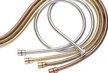 Flexo de Ducha / Flexos de Ducha en diversos acabados y medidas, doble reforzado, conexión universal, anti-torsión, acero inoxidable, cromados...