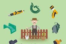 Jardín / Accesorios para Jardín; Aspersores, Conectores y enchufes para grifos de riego,  Derivaciones y distribuidores, Pistolas y lanzas, Mangueras.