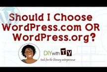 Learning WordPress - DIYwithTy.com / Video lessons and tips about WordPress. / by Tyora Moody