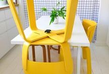 Yellow  in design -  interiors, exteriors, doors, fridges etc... / Yellow if my favourite colour - this board is dedicated to splashes of yellow in and around homes, some my own and some other peoples.
