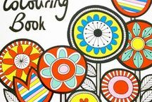 Jane Foster's Colouring Book - published by Pavilion / This book was the second book in a group of three that I had published by Pavilion.