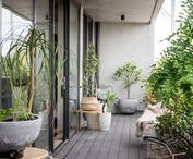 Balcony Style / Ideas and inspiration to create a small outdoor retreat or garden balcony
