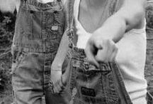 Dungarees and Pinafores / I'm a huge fan of denim dungarees and pinafores and have lived in them for most of my life.