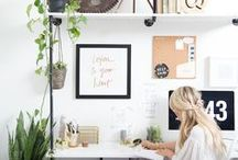 Office/Workspace / Every ambitious, working woman needs a beautiful work environment to be inspired and create their dream life. From vision boards to how to organize your desk and life, use this board as inspiration for your home office and workspace. We think you will love it.