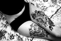 Leg tattoos old school  / Inspiration for new tattoo :-) Girls only