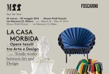 """Foscarini @ Poldi Pezzoli / A cura di Beppe Finessi, l'esposizione è dedicata al tema del """"textile design"""", per raccontare il legame tra i fondamenti di un'arte antica e la sua identità odierna."""