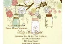Bridal Shower Invitations / A bridal shower is all about the bride to be. This variety of bridal shower invites is as varied as the women they celebrate. From floral designs to specific themes, these quality bridal shower invitations are all custom designed. Use the text templates to add your own party information. Shipped fast, we hope you enjoy this selection of lovely bridal party invitations.