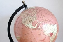 Maps and Globes / Cool and creative maps and globes / by Amanda @ Popper & Mimi