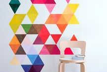 Trendy Triangles / Triangles are trending in crafts, DIY and home décor