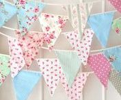 bunting || Wimpel / How to make and decorate bunting and garlands DIY  Wie man Wimpel und Girlanden selber machen kann