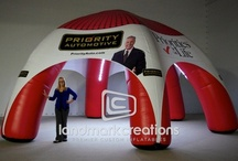 AirTents & Inflatable Tents / For mobile marketing, sporting events and more, inflatable tents and domes offer many benefits. With 360 degrees of artwork visibility, your message - or a sponsor's message - can be seen in all directions.