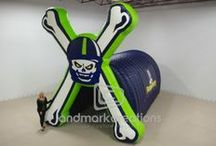 Sports Tunnels / High school, college or pro; there are few things that get fans up on their feet faster than seeing their team burst onto the field through custom, inflatable sports tunnels. Not only that, you can also sell sponsor ads on your sports tunnel to increase team revenue.