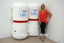 Pylons & Barriers / For protection or direction, these lightweight portables look great and do the job right on land or in the water. With no power needed, they are perfect for boat shows, golf courses and more.