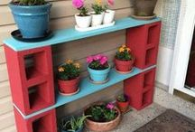 Plant Stands / Ideas for plant stands - DIY or store bought - to store herbs outside.