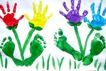 "little hand prints / I feel like I am always grasping on to that ever present thing called ""time"", and this is one little way to ""hold on"" to my kids at their different stages in life.  / by Shira Jones"