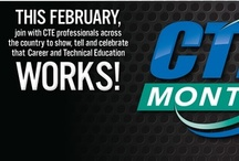 CTE Month  / CTE Month is in the month of February and provides CTE programs across the country an opportunity to demonstrate how CTE educates students to be college- and career- ready and prepares them for high-wage, high-demand career fields. Each year, ACTE holds a poster design contest and PSA contest open to students to demonstrate their passion for career and technical education.