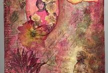 altered art-art journal pages / inspiration for mixed media / by Rachel Guillotte