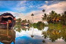 Kerala- God's Own Country ! / To these man- made riches, add the God given blessings of nature: azure seas, sandy beaches, verdent hills, cascading waterfalls, abundant wildlife, coconut grooves. Here, one could be glorious lazy by the palm lagoon or full of excitement , diving, fishing or sailing. / by Thrillophilia Adventure