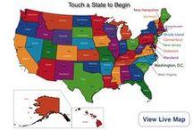 HmSchl : GEOGRAPHY : U.S. / United States Geography / by Jenny Sparrow